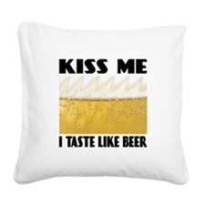 FIN-kiss-me-beer.pn... Square Canvas Pillow