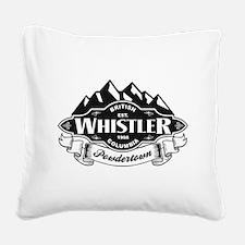 Whistler Mountain Emblem Square Canvas Pillow