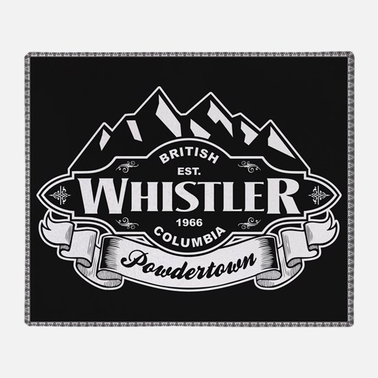 Whistler Mountain Emblem Throw Blanket