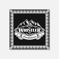 "Whistler Mountain Emblem Square Sticker 3"" x 3"""