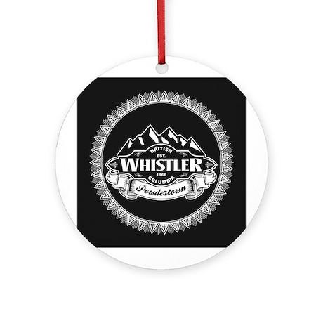 Whistler Mountain Emblem Ornament (Round)