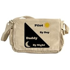 Pilot by day Daddy by night Messenger Bag