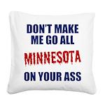 Minnesota Baseball Square Canvas Pillow