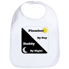 Plumber by day Daddy by night Bib