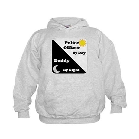 Police Officer by day Daddy by night Kids Hoodie