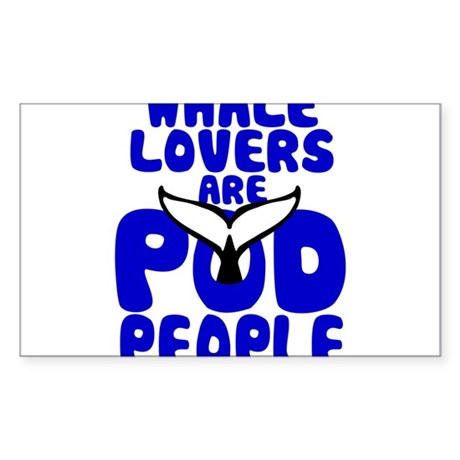Whale Lovers are Pod People - for light fabrics St