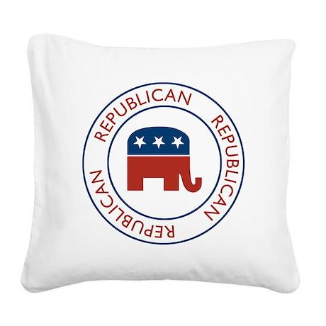 Republican Square Canvas Pillow