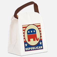 Retro Republican Canvas Lunch Bag