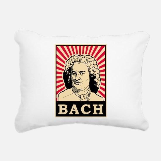 Pop Art Bach Rectangular Canvas Pillow