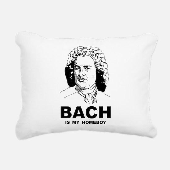 Bach Is My Homeboy Rectangular Canvas Pillow