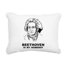 Beethoven Is My Homeboy Rectangular Canvas Pillow