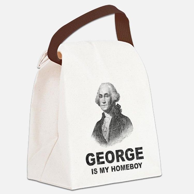 Cute George washington Canvas Lunch Bag