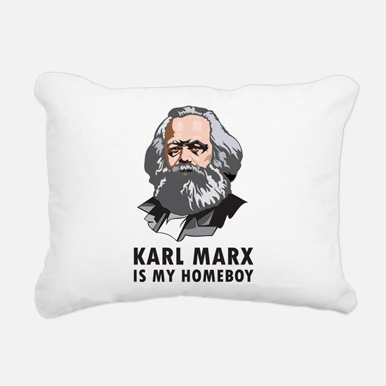 Karl Marx Is My Homeboy Rectangular Canvas Pillow