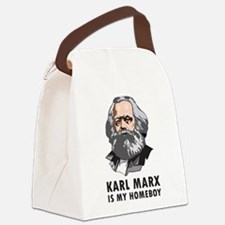 Karl Marx Is My Homeboy Canvas Lunch Bag