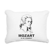Mozart Is My Homeboy Rectangular Canvas Pillow