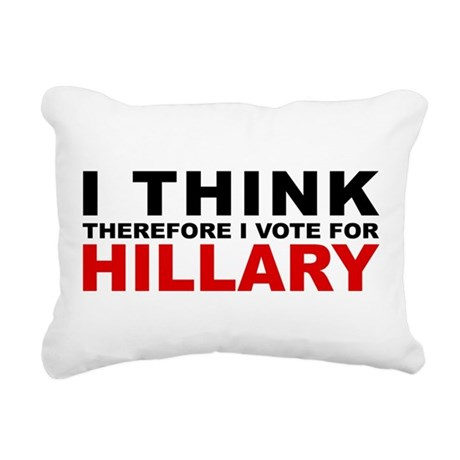 Vote For Hillary Rectangular Canvas Pillow