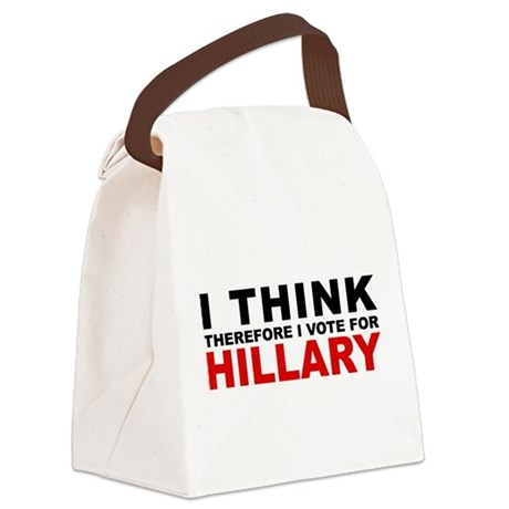 Vote For Hillary Canvas Lunch Bag