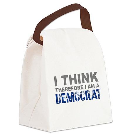 Think Democrat Canvas Lunch Bag