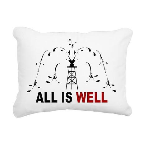 All Is Well Rectangular Canvas Pillow