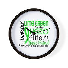 Hero in Life 2 Lymphoma Wall Clock