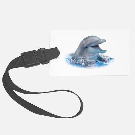 Happy Dolphin Luggage Tag