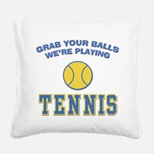 FIN-grab-balls-tennis.png Square Canvas Pillow