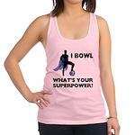 Bowling Superhero Racerback Tank Top