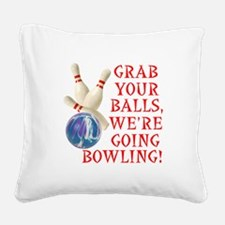 FIN-grab balls bowling.png Square Canvas Pillow