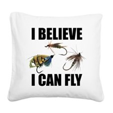 FIN-believe I can fly.png Square Canvas Pillow