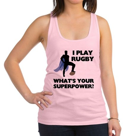 FIN-rugby-superpower.png Racerback Tank Top
