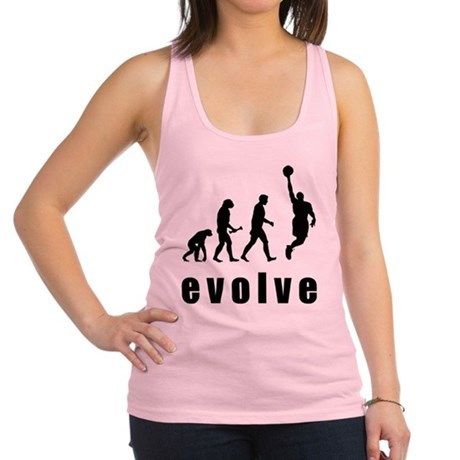 FIN-basketball-evolve.png Racerback Tank Top