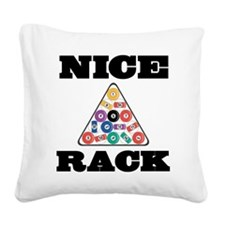 Pool Nice Rack Square Canvas Pillow