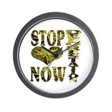 STOP DEFORESTATION NOW Wall Clock