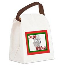 Angora Goat Happy Holidays-AngelFace Canvas Lunch
