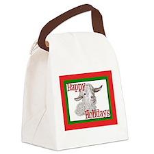 Funny Angora Canvas Lunch Bag