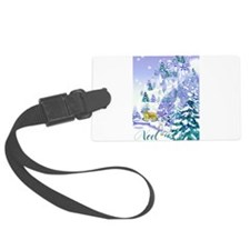 Goat Winter Noel front .png Luggage Tag