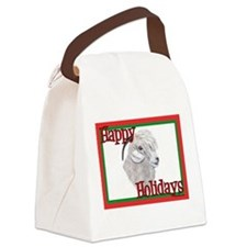 Angora Goat Holiday Canvas Lunch Bag