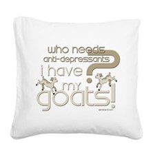 GOATS-Antidepressants.png Square Canvas Pillow