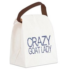 GOAT-crazygoatlady.png Canvas Lunch Bag