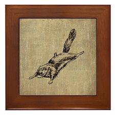Vintage Squirrel Glider Framed Tile