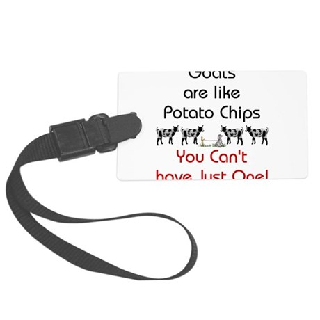 GOATS-potatochips.png Large Luggage Tag