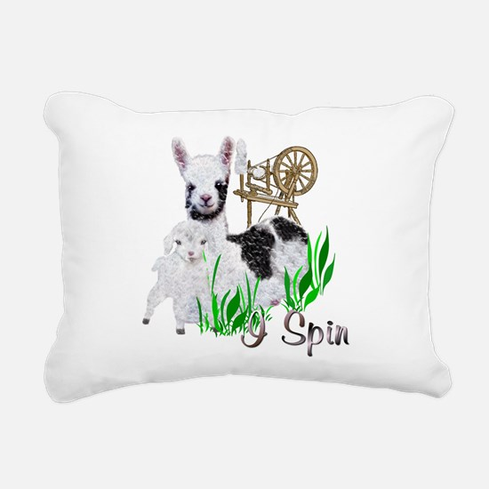 llama-goat-cute.png Rectangular Canvas Pillow