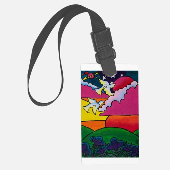 Night and Day Large Luggage Tag