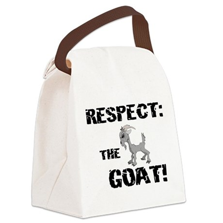 Goat-Respect-grungeDK.png Canvas Lunch Bag