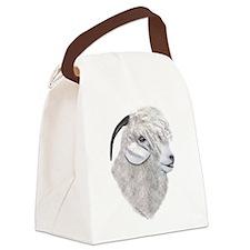 Goat-Portrait-Angora.png Canvas Lunch Bag