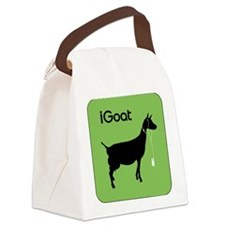 iPod-Parody-goat-igoat-green.png Canvas Lunch Bag