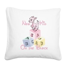 New Kid on the Block Square Canvas Pillow
