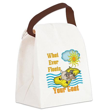 floatsgoat.png Canvas Lunch Bag