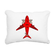Unique Snakes on a plane Rectangular Canvas Pillow