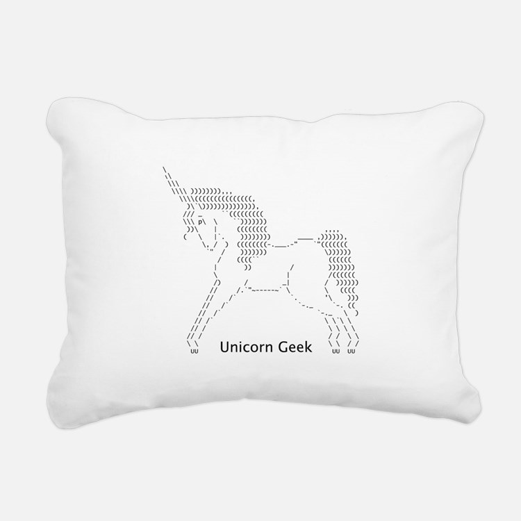 Cute Ascii Rectangular Canvas Pillow